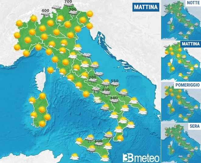 Cartina Meteorologica Dell Italia.Meteo Italia Previsioni Di Oggi Mercoledi 5 Febbraio 2020 Ravengami