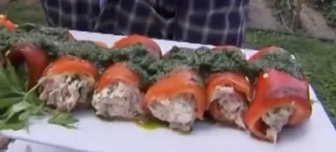 La prova del cuoco involtini di peperoni tonnati