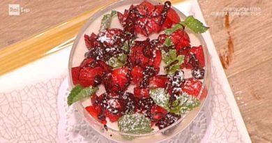 La prova del cuoco cremoso ricotta fragole cioccolato