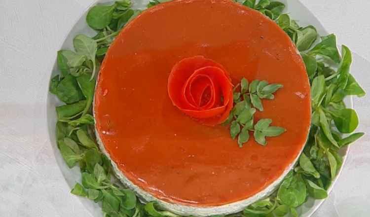 cheesecake alle erbe e pomodoro è sempre mezzogiorno